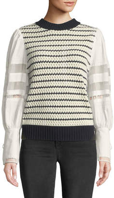 Sea Coco Crewneck Long-Sleeve Combo Striped Sweater