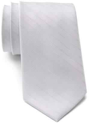 Calvin Klein Raised Classic Stripe Silk Tie
