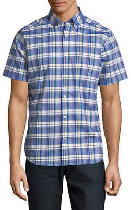 Nautica Short-Sleeve Large Plaid Sport Shirt