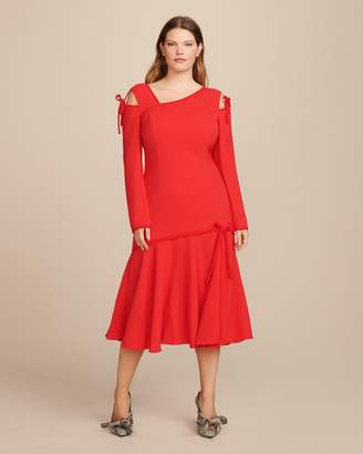 Prabal Gurung Gioia Long Sleeve Cut-out Dress