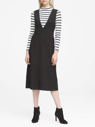Banana Republic JAPAN ONLINE EXCLUSIVE Deep V-Neck Pinafore Midi Dress