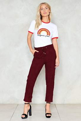 Nasty Gal Act A-Cordingly High-Waisted Pants