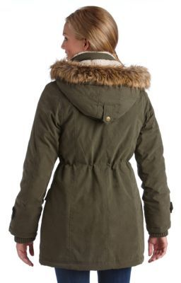 DKNY Faux-Fur Hooded Anorak Jacket