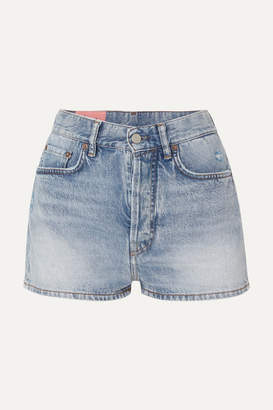 Acne Studios Ren Distressed Denim Shorts - Light denim