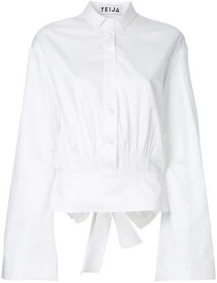Teija bow back flare cropped shirt