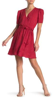 Como Vintage Pucker Sleeve Faux Wrap Dress