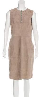Fabiana Filippi Suede Sheath Dress