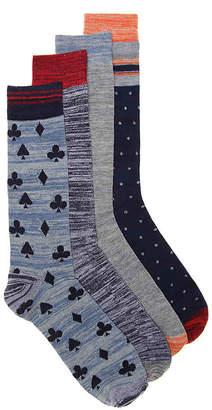 Lucky Brand Gamble Dress Socks - 4 Pack - Men's