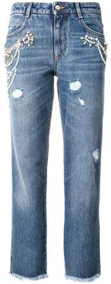 Ermanno Scervino cropped fitted jeans