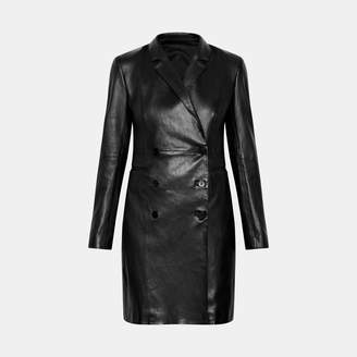 Theory Leather Blazer Dress