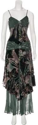 Sue Wong Embellished Velvet Dress