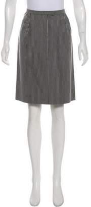 Miu Miu Striped Knee-Length Skirt w/ Tags