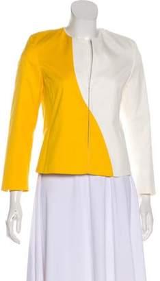Akris Punto Long Sleeve ColorBlock Short Coat