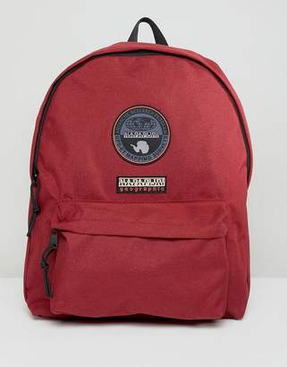 Napapijri Voyage Logo Backpack In Burgundy