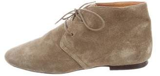 Isabel Marant Round-Toe Suede Oxfords