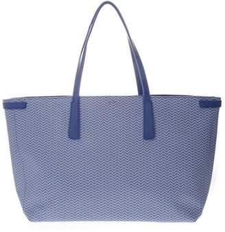 Zanellato Tote Duo Grand Tour Bag In Light Blue Resined Canvas