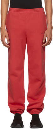 Balenciaga Red Logo Lounge Pants