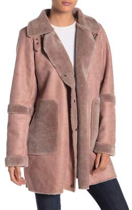 Lucky Brand Faux Fur Trench Coat
