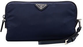 Prada Vela Medium Triangle Cosmetics Bag $270 thestylecure.com
