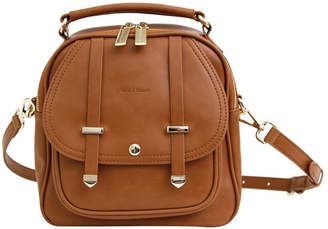 Belle & Bloom Camila Leather Backpack Brown