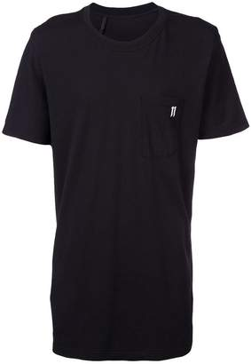 11 By Boris Bidjan Saberi longline logo T-shirt