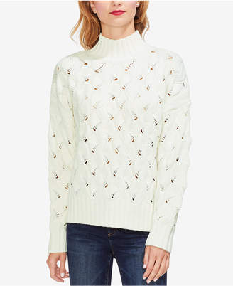 Vince Camuto Open-Knit Ribbed Sweater