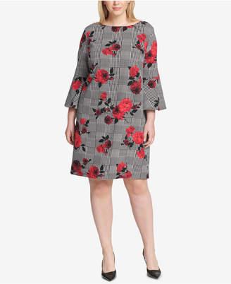 Jessica Howard Plus Size Floral-Print Sheath Dress