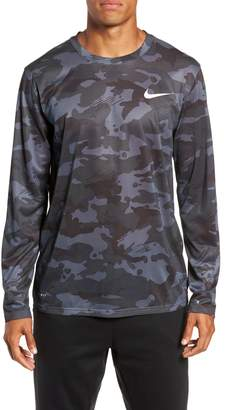 Nike Dry Long Sleeve Camo T-Shirt