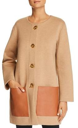 Tory Burch Reagan Toggle Sweater Coat