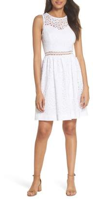 Lilly Pulitzer R) Alivia Eyelet Fit & Flare Dress