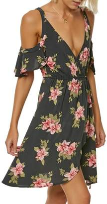 O'Neill Cecelai Floral Cold Shoulder Wrap Dress