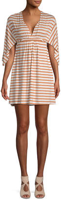 Rachel Pally Stripe Caftan Mini Dress