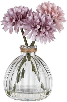 Set of 2 Pom Pom Artificial Flowers – Purple