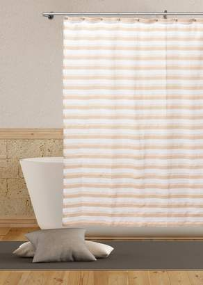 Duck River Textile Fiona Metallic Stripe Shower Curtain
