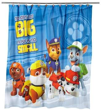 PAW Patrol Kids Fabric Shower Curtain, 72in x 72in, 1 Each