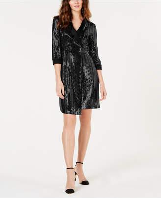 INC International Concepts I.n.c. Petite Mirror-Ball Mini-Blazer Dress