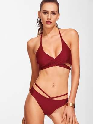 8e48ac61c3 Cross Front Halter Bikini - ShopStyle