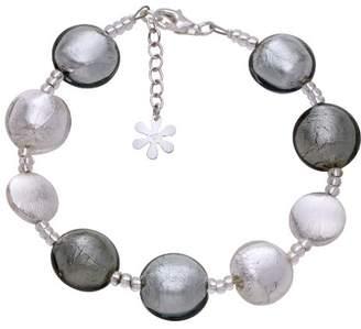 Valentina Genuine Murano Glass Silver Mix Bracelet of 21.5cm