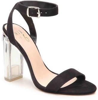 Women's Lucee Sandal -Black Faux Suede $85 thestylecure.com
