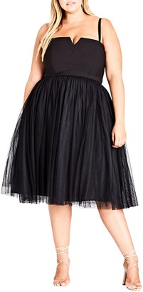 City Chic Power Princess Fit & Flare Dress