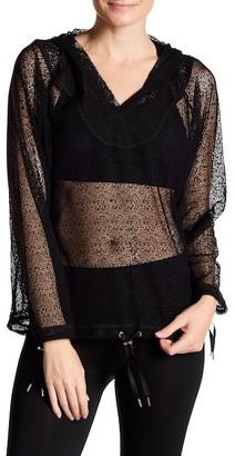 Zobha Activewear Sheer Mesh Long Sleeve Hoodie $65 thestylecure.com