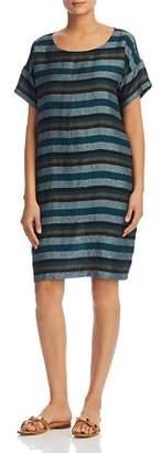 Eileen Fisher Stripe Linen Shift Dress