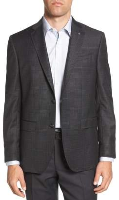 Ted Baker Jed Trim Fit Microcheck Wool Sport Coat