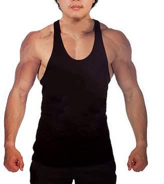 2d014680c70e4c WAYLONGPLUS Mens Fitness Gym Tank Tops for Bodybuilding Stringer Muscle  Workout (Grey)