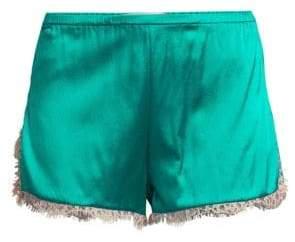 Fleur Du Mal Lace Trim Tap Shorts