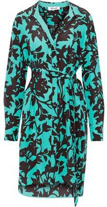 Diane von Furstenberg Floral-Print Silk Mini Shirt Dress