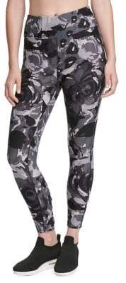 Donna Karan Active Floral Lace-Up Leggings