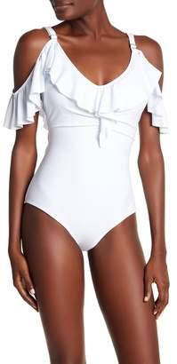 Monroe Marilyn Swim Off-the-Shoulder Ruffle One-Piece Swimsuit