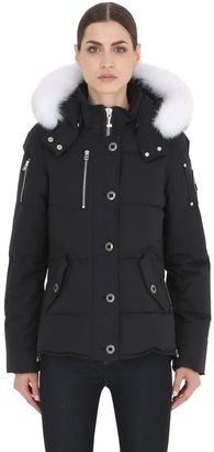 3q 3/4 Length Down Jacket W/ Fur Trim $895 thestylecure.com