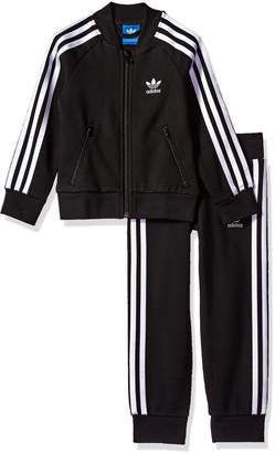 adidas Big Boys' Originals Kids Superstar Track Suit